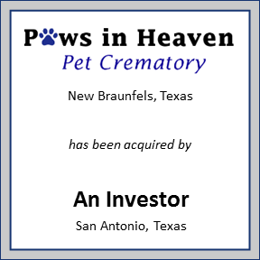 Tombstone for Paws in Heaven Pet Crematory