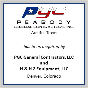 Tombstone for Peabody General Contractors Inc.