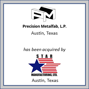 Tombstone for Precision Metalfab, L.P