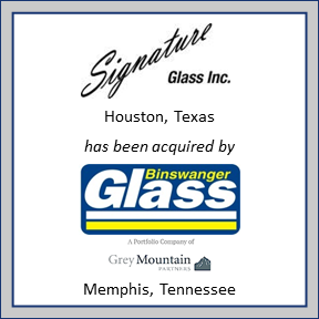 Signature Glass tombstone